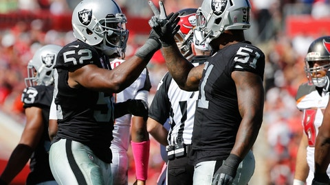 In Week 8 at Tampa Bay, Raiders set an NFL record for most penalties in a single game (23) and still managed to win 30-24 in overtime.