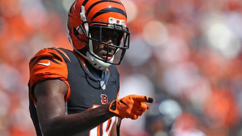 A.J. Green, WR, Bengals (hamstring): Out