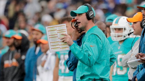 Adam Gase enters his second season as head coach of the Miami Dolphins.	 Jae C. Hong  AP
