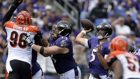 Ravens at Bengals: 1 p.m., Jan. 1 (CBS)
