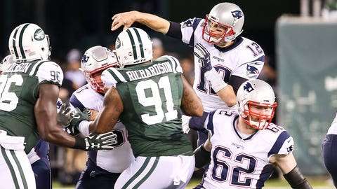 October 15: New England Patriots at New York Jets, 1 p.m. ET
