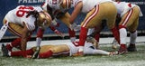 The 49ers were penalized for celebrating a TD they didn't score