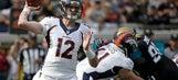 Conservative Broncos force turnovers, beat Jaguars 20-10