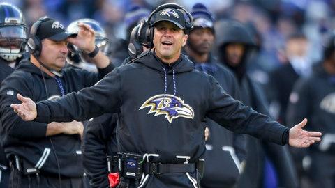 John Harbaugh, Baltimore Ravens (Last week: NR)
