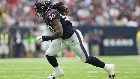 Jadeveon Clowney, DE, Texans (elbow/wrist): Out