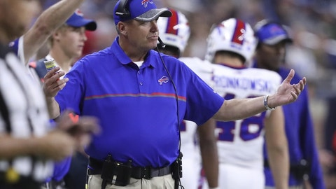 Rex Ryan, Buffalo Bills (Last week: NR)