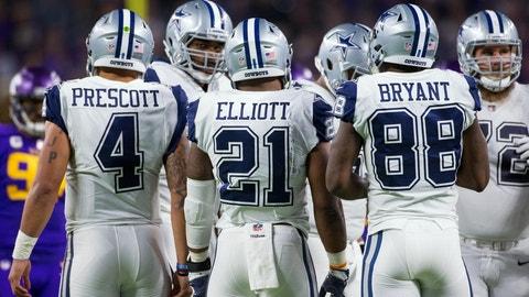 NFC: No. 1 Dallas Cowboys vs. No. 4 Green Bay Packers