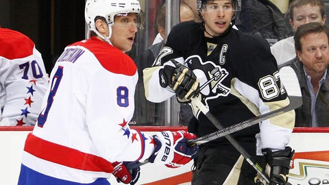 2004 & 2005: Alexander Ovechkin, Washington Capitals; Sidney Crosby, Pittsburgh Penguins