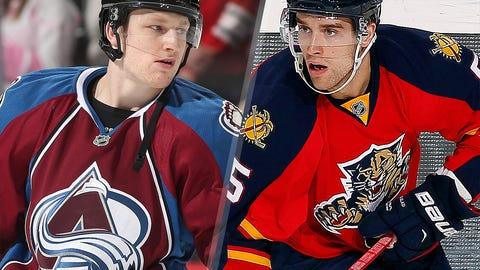 2013: Nathan MacKinnon, Colorado Avalanche; 2014: Aaron Ekblad, Florida Panthers