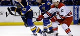 Skinner has goal, assist to lift Hurricanes over Blues 4-1
