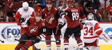 DeKeyser scores in OT to help Red Wings beat Coyotes 3-2