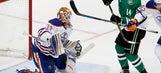 Benn scores 27th goal, Stars beat Oilers 3-2