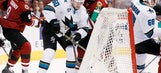 Jones makes 23 saves in Sharks' 3-1 win over Coyotes