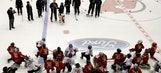Goalie Marty Brodeur gets statue, NJ Devils jersey retired