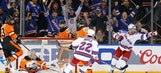 Stepan scores 2 in 3rd period as Rangers beat Flyers 3-1