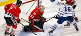Blackhawks stop slide with 7-2 victory over Maple Leafs