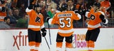 Giroux earns 500th career point, Flyers top Coyotes 4-2