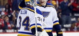 Blues beat Caps for 4th straight shutout, this time with Allen in goal
