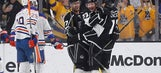 Kings complete 5-game season sweep of Oilers with 6-4 win