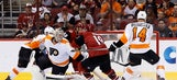 Coyotes slow Flyers' playoff push with 2-1 victory