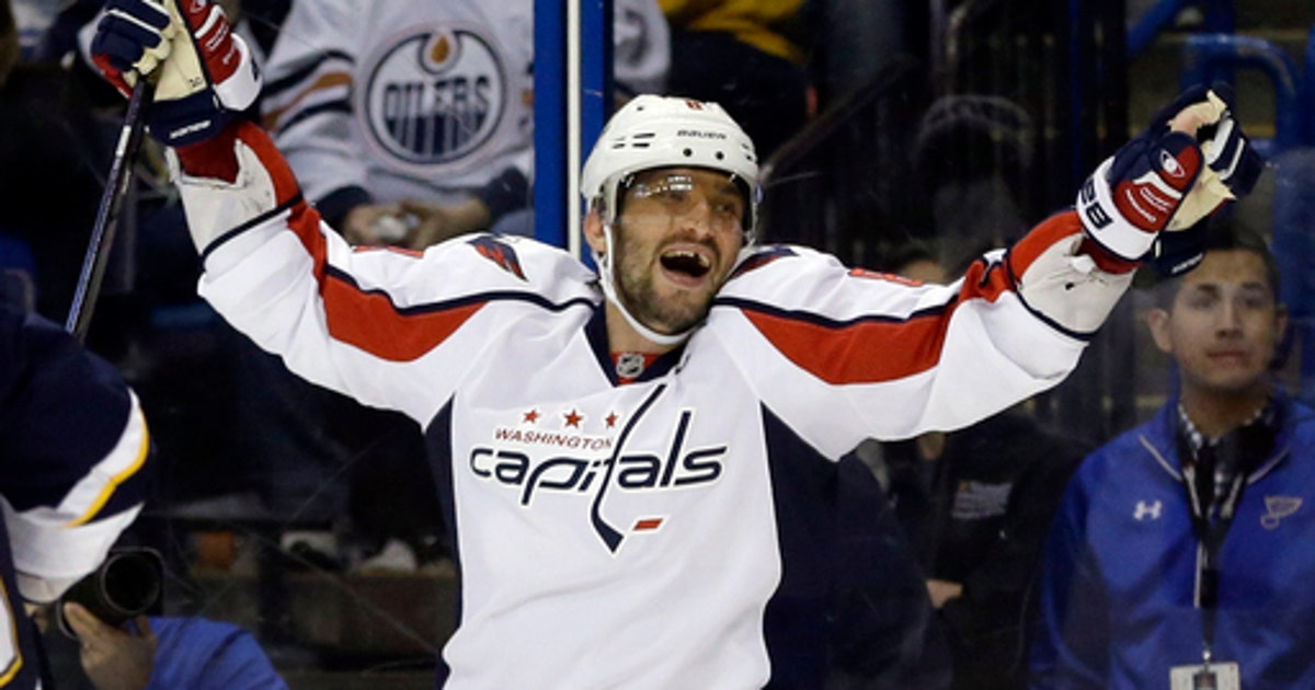0d93659261d Ovechkin has hat trick for 50 goals