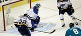 Blues hope goalie change can slow down Sharks top line