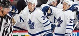 Maple Leafs' Auston Matthews makes history with four-goal NHL debut