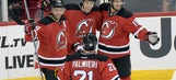 Taylor Hall scores twice in home debut for Devils