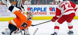 Athanasiou lifts Red Wings to shootout win over Flyers