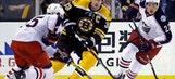 Boston takes early lead, beats Blue Jackets 5-2