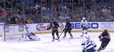 Watch Ben Bishop make an amazing diving glove save after terrible giveaway