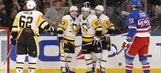 Crosby, Penguins pull away from Rangers in 6-1 rout