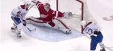 Watch Red Wings' Petr Mrazek flash the glove for unreal 'save of the year' candidate