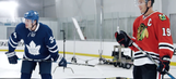 Jonathan Toews and Auston Matthews shoot for destruction in funny ad