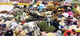 Watch: AHL's Hershey Bears collect over 20,000 stuffed animals in Teddy Bear Toss