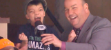 Young Wild fan goes nuts when team scores during his TV interview
