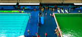 Algae-ridden Olympic pool closed: 'The whole building smells like a fart'
