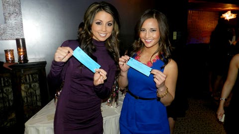 Kaylin and Angie tried their luck with the Boys & Girls Clubs raffle tickets.