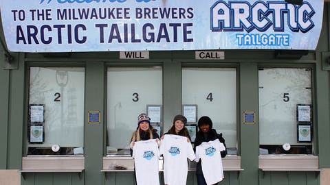 Chyna, Sage, and Bishara had a blast at the 8th annual Arctic Tailgate!