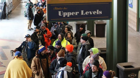 Only in Wisconsin are fans crazy (and awesome) enough to stand outside for hours to get tickets. That's why we love them!