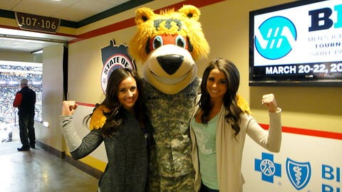 Supporting our troops with Nordy on Military Appreciation night.