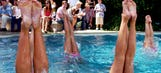 'Ring of fire' stunt takes pool dunking to the next level