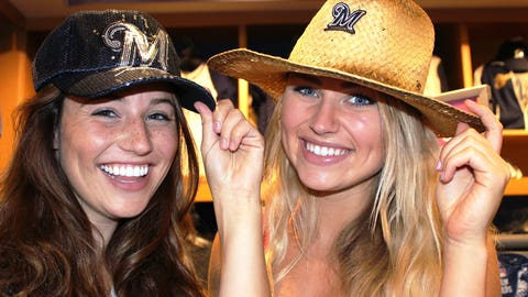 The FOX Sports Wisconsin Girls tip their hats to the Brewers – leaders in the NL Central since 4/5.