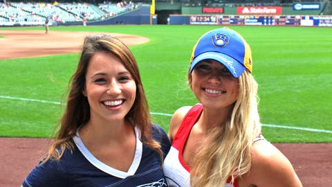 The roof was open at Miller Park and the FOX Sports Wisconsin Girls were ready to see the Brewers notch a W.