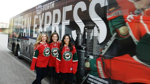 The FOX Sports North Fan Express brought season ticket holders to the game in style and the FOX Sports North Girls were there to welcome them.