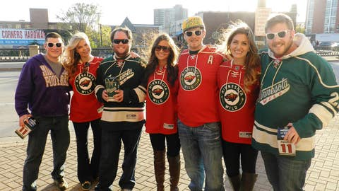 Wild fans are taking over Kellogg Boulevard before the first game of the season.