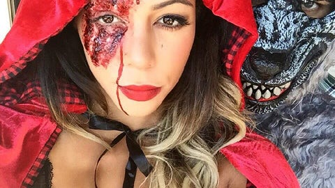 Sydney Leroux as 'Little Dead Riding Hood'