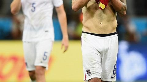 July 1: Belgium 2, USA 1 (World Cup Round of 16)