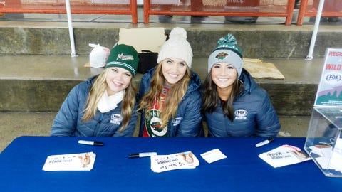 The FOX Sports North Girls attended the Minnesota Wild Outdoor Practice over the weekend at John Rose OVAL.