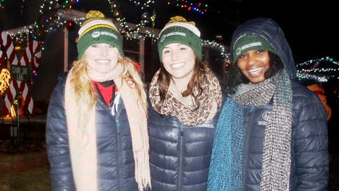 Even without snow, the FOX Sports Wisconsin Girls agree that Candy Cane Lane is a winter wonderland.